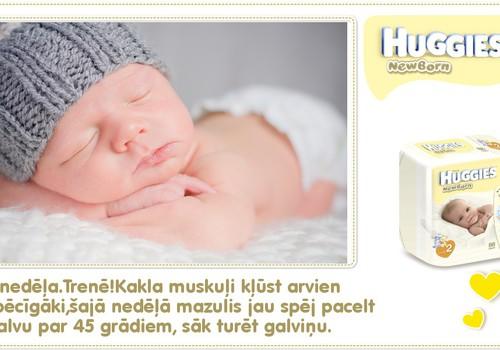 KOLĀŽA: Astotā dzīves nedēļa kopā ar Huggies® Newborn!