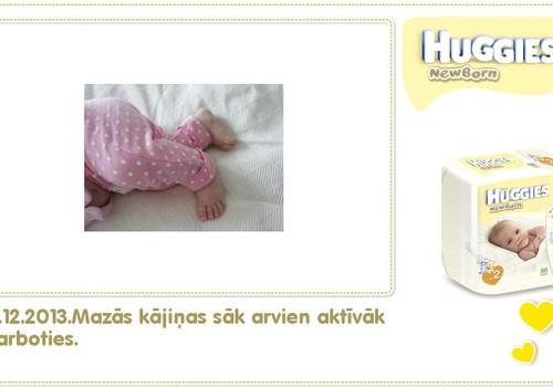 Katrīna aug kopā ar Huggies® Newborn: 44.dzīves diena