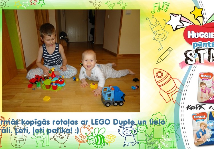 Pirmās rotaļas ar LEGO Duplo!