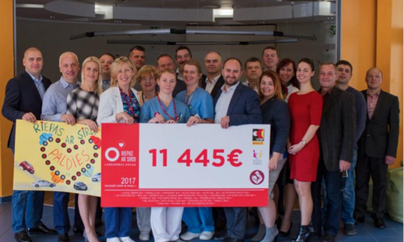 Bērnu klīniskā universitātes slimnīca saņem 11 445 eiro ziedojumu
