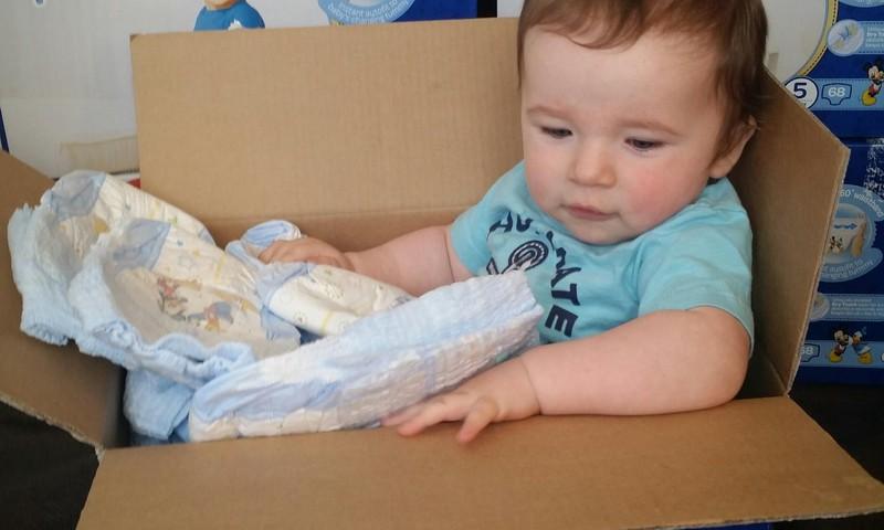 Kā mums noder Huggies autiņbiksīšu kastes