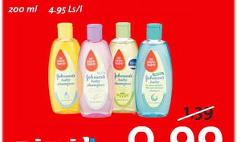 RIMI Bērnu dienās Johnson's Baby šampūniņš par 0,99Ls!