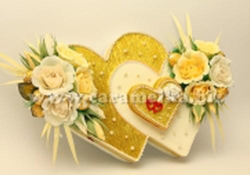 Konfekšu kompozīcija Sv.Valentīna dienai tiek..
