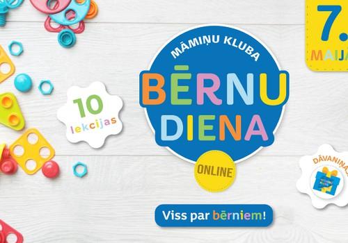 ONLINE diena bērniem 7. maijā: dāvanas visiem dalībniekiem