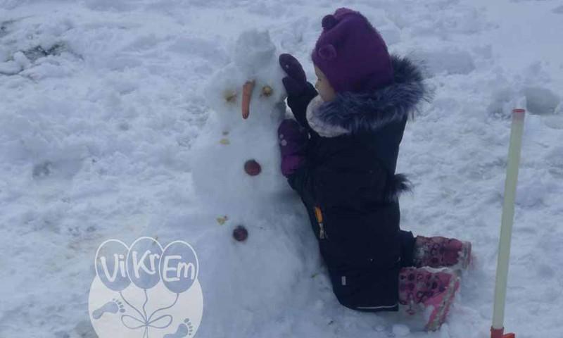 Bērnudārza dienasgrāmata: Man patīk būt ziemā un sniegā