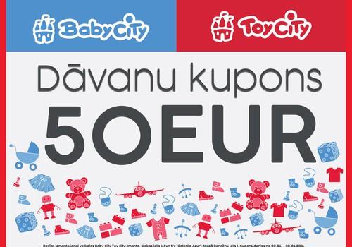 Dāvanu kartes no Baby City Toy City 500EUR vērtībā 2.jūnija Ratiņu parādē!