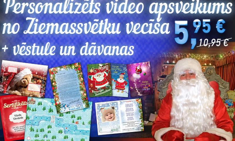 Video sveiciens un vēstule no Ziemassvētku vecīša. Ziemassvētku pasts dāvinās brīnumu