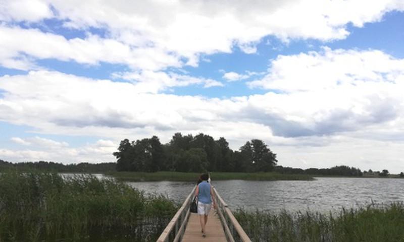 Viļakas ezera salas paslaigu taka