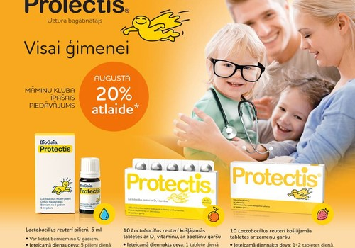 AUGUSTĀ  Māmiņu kluba īpašais piedāvājums –  Protectis®  produktiem 20% atlaide*!