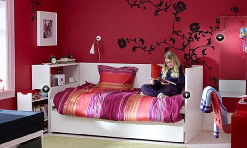 Skolnieka istabas mēbeles no IKEA- atpūtas zonas izveide