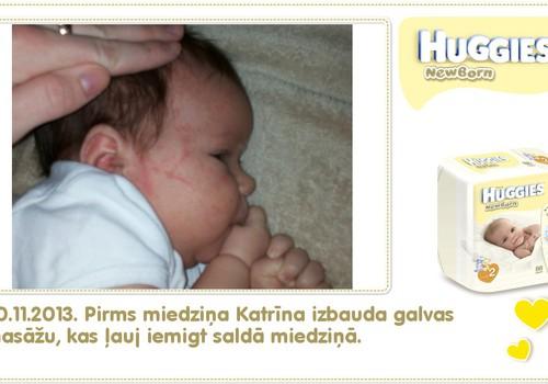 Katrīna aug kopā ar Huggies® Newborn: 33.dzīves diena