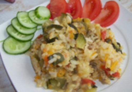 Gardām pusdienām - rīsi ar dārzeņiem