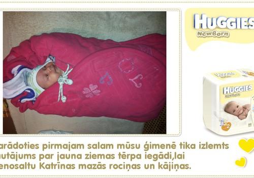 Katrīna aug kopā ar Huggies® Newborn: 35.dzīves diena