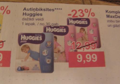 Veikalos MEGO no pirmdienas atlaides Huggies Pants autiņbiksītēm