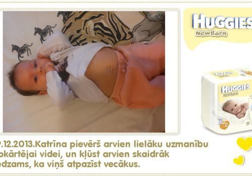 Katrīna aug kopā ar Huggies® Newborn: 52.dzīves diena
