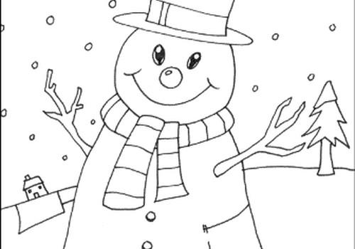 Veļam sniegavīrus un krāsojam zīmējumus!