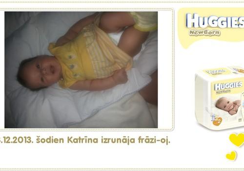 Katrīna aug kopā ar Huggies® Newborn: 46.dzīves diena