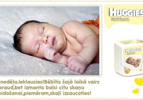 KOLĀŽA: Ceturtā dzīves nedēļa kopā ar Huggies® Newborn!