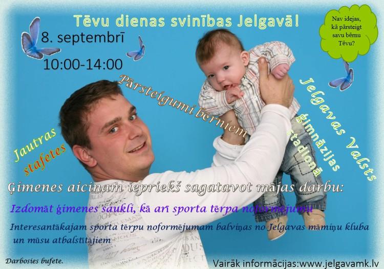 Tēvu dienas svinības Jelgavā kopā ar Jelgavas māmiņu klubu!