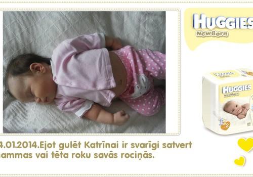 Katrīna aug kopā ar Huggies® Newborn: 90.dzīves diena