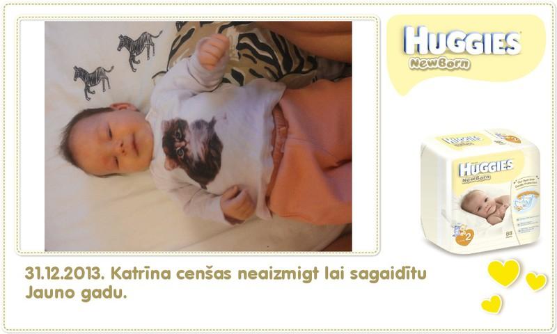 Katrīna aug kopā ar Huggies® Newborn: 64.dzīves diena