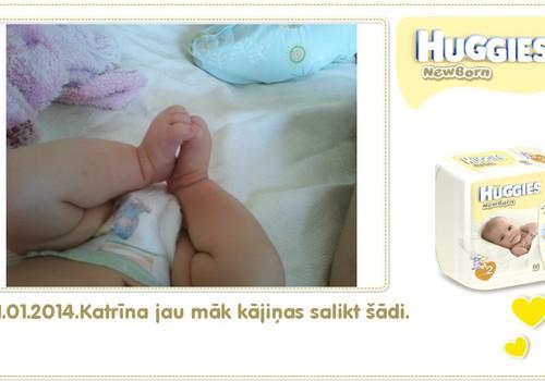 Katrīna aug kopā ar Huggies® Newborn: 87.dzīves diena