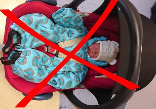 Autokrēsls un ziemas apģērbs var būt bīstama kombinācija!