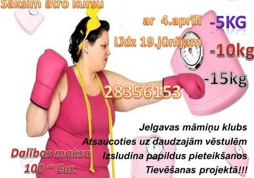 Piesakies izaicinājumam #Nr. 2 Tievējam kopā ar Jelgavas māmiņu klubu!!!