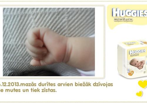 Katrīna aug kopā ar Huggies® Newborn: 49.dzīves diena