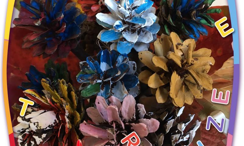 Radi kopā ar bērnu: Ziedi no čiekuriem