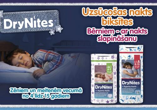 DryNites® uzsūcošas nakts biksītes - bērniem, kuri slapina gultiņā