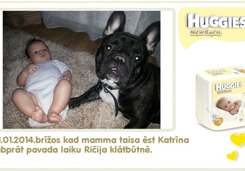 Katrīna aug kopā ar Huggies® Newborn: 97.dzīves diena