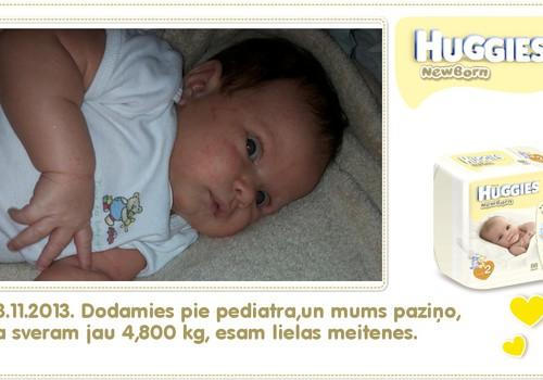 Katrīna aug kopā ar Huggies® Newborn: 26.dzīves diena