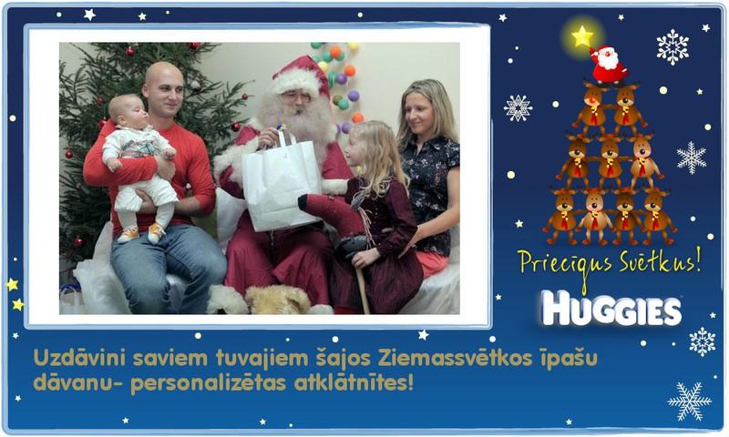 Huggies® apsveic svētkos! Izveido personalizētu apsveikumu svētkos!