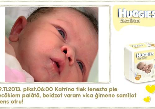 Katrīna aug kopā ar Huggies® Newborn: 1.dzīves diena