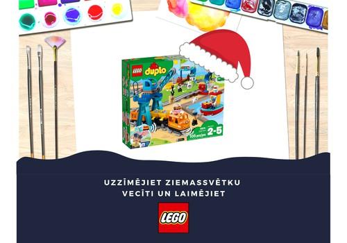 Zīmējumu KONKURSS: Laimējiet LEGO® DUPLO® Kravas vilcienu komplektu!