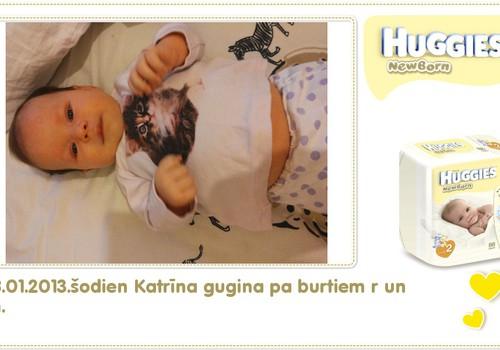 Katrīna aug kopā ar Huggies® Newborn: 84.dzīves diena