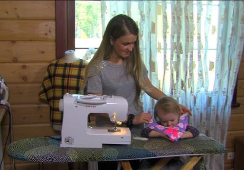 MĀMIŅU DARBNĪCAS VIDEO PAMĀCĪBA: Šujam mazulim gaumīgu siekalu lakatiņu!