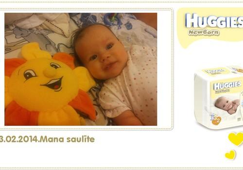 Katrīna aug kopā ar Huggies® Newborn: 100.dzīves diena