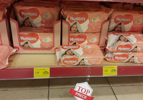 """Mitrās salvetes """"Huggies"""" - tikai par 1 eiro!"""