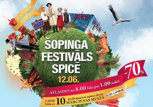 Šopinga festivāls Spicē jau 12.jūnijā: Ieskaties programmā!