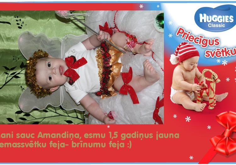 Ziemassvētku feja Amandiņa.