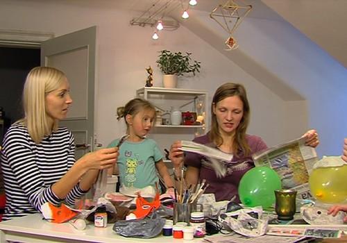 VIDEO: Gatavojam Ziemassvētku darbnīcā maskas!