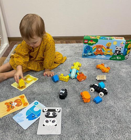 LEGO® DUPLO® Dzīvnieku vilcieniņš - trenē pirkstu veiklību un koncentrēšanos