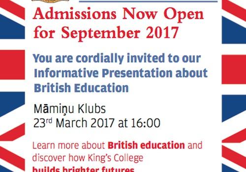 Britu izglītības pēcpusdiena Māmiņu Klubā - 23.martā!