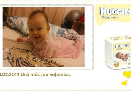 Katrīna aug kopā ar Huggies® Newborn: 98.dzīves diena
