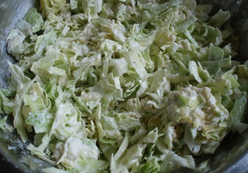 Kāpostu un čipsu salāti