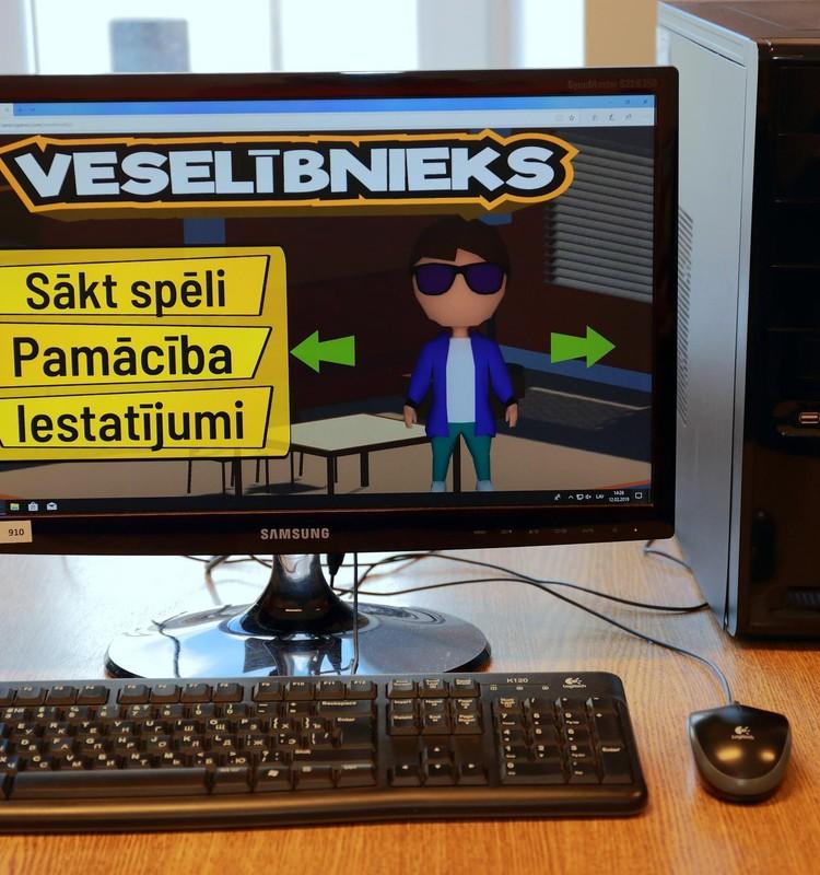 """Veselības pratības veicināšanai izmantojama datorspēle """"VESELĪBNIEKS"""""""