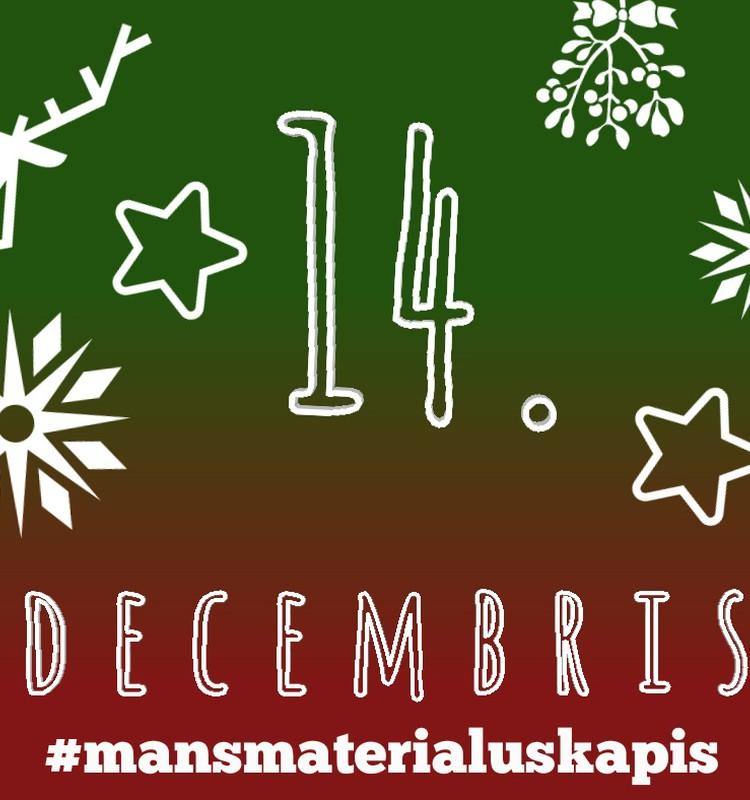 """14. decembris - """"Karstās līmes rotājumi"""" #mansmaterialuskapis"""