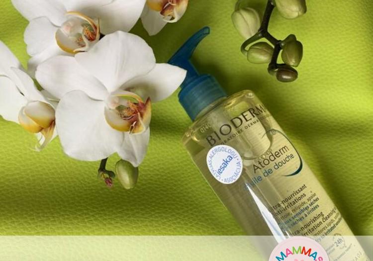 Māmiņu Kluba mammas testē: Bioderma barojoša dušas eļļa sausai ādai ATODERM HUILE DE DOUCHE